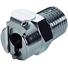 Colder Chrome Plated Brass Tube Fitting, Coupler, Shutoff, In-Line, Coupler x NPT Male