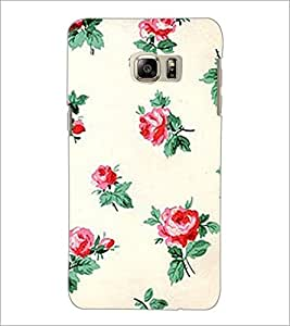 PrintDhaba Floral Pattern D-2342 Back Case Cover for SAMSUNG GALAXY NOTE 5 EDGE (Multi-Coloured)