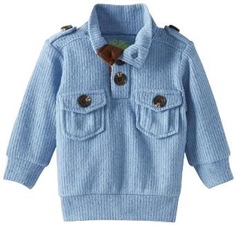 Kapital K Baby-boys Infant Fleece Pullover, Blue Powder, 9-12 Months