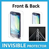 Samsung Galaxy A3 FULL Body INVISIBLE Screen Protector Film (Front & Back included) Military Grade Protection Exclusive to ACE CASE