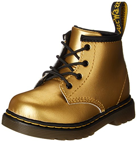 Dr. Martens Brooklee B 4 Eye Lace Boot (Toddler/Little Kid),Gold Alumix,5 M Uk/6 M Us front-413867