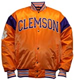 NCAA Men's Clemson Tigers Big League Satin Jacket (Clemson Orange/Regalia, Large) at Amazon.com