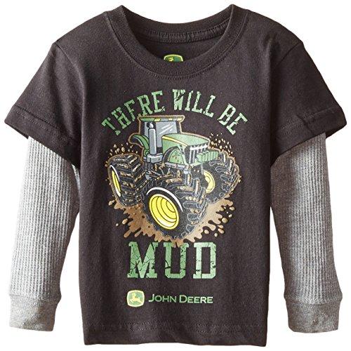 John Deere Baby Boys 39 There Will Be Mud T Shirt Black