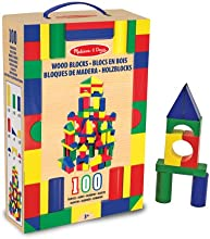 Melissa & Doug 100 Wood Building Blocks Set
