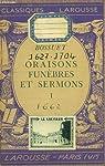Oraisons funèbres et sermons, tome 1