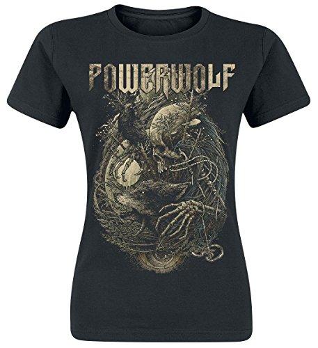 Powerwolf Skeleton Maglia donna nero XL