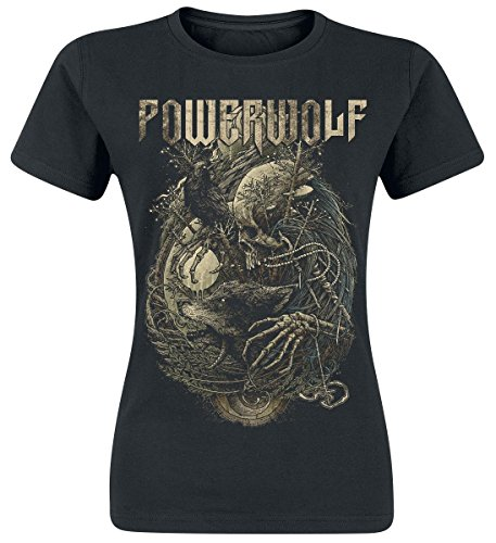 Powerwolf Skeleton Maglia donna nero M
