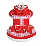 Christmas Uniquorn Pet Winter Dog Turned Equipment Large Red Festive Christmas Dress Cute Warm Dog Skirt Clothes