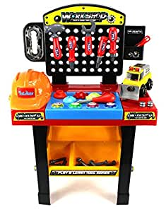 buy ultimate play learn workshop 52 piece childrens toy tool table play set w assorted tools. Black Bedroom Furniture Sets. Home Design Ideas