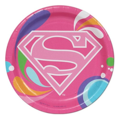 Super Girl Power Small Paper Plates (8ct)