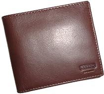 Coach Water Buffalo Double Billfold Mens Wallet 74396 Mahogany/Brown