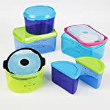 2 X Fit & Fresh Kids' Reusable Lunch Container Kit with Ice Packs, 14-Piece Set, BPA-Free