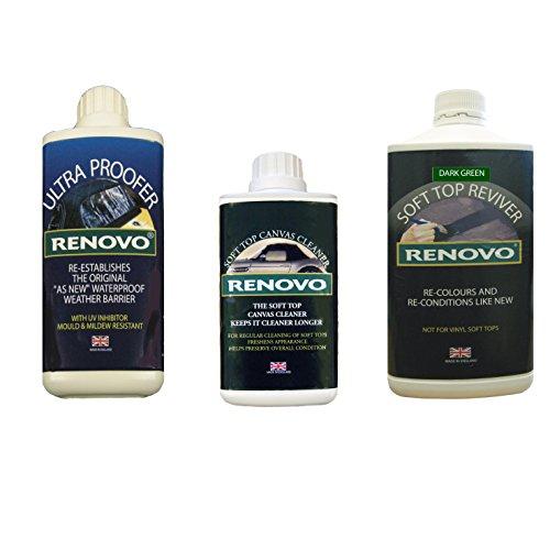 Renovo-REN-KIT7-triple-kit-di-pulizia-contiene-reviver-superiore-morbido-dolce-ultra-Proofer-soft-top-schermo-pulito-verde