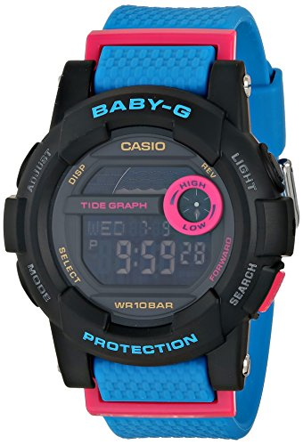 G-Shock Womens BGD180 Glide with Tide Graph Baby-G Blue Series Luxury Watch - Black/Blue / One Size