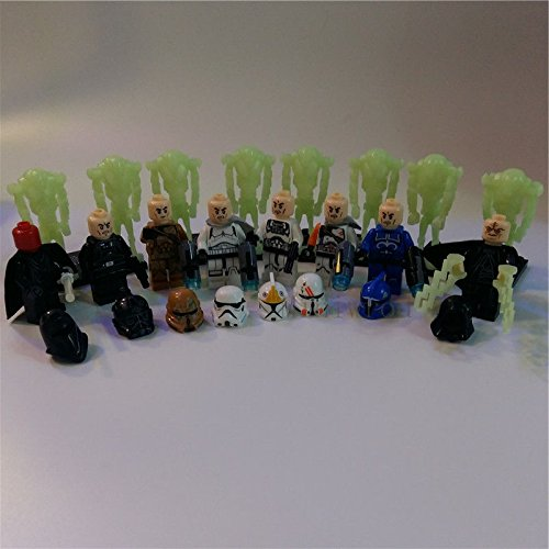 [16 pcs Minifigures Characters Warbots Building Blocks Toy] (Star Wars Commander Cody Costumes)