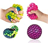 2 Squishy Squeezable Hand Stress Mesh Ball Toys