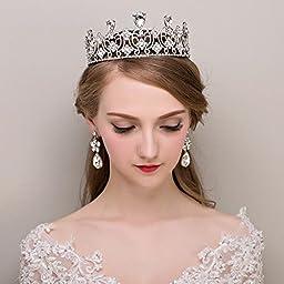 Sunshinesmile Silver Crystal Rhinestone Royal Princess Wedding Bridal Pageant Prom Tiara Crown