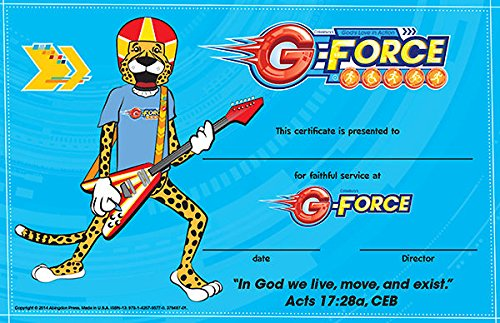 Vacation Bible School (VBS) 2015 G-Force Leader Recognition Certificates (Pkg of 10) (G-Force (Vbs)) PDF