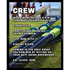 Buy Framed Crew Rowing 8 x 10 Sport Poster Print by Sport Prints Magnetic Impressions