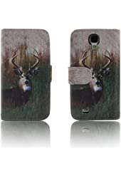 Deer Tree Camo Leather Wallet Purse clutch Handbag Samsung S4 Case Cover ID, Credit Card, Cash