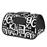 Alphabet Print Pet Bag Portable Dog Cat Puppy Kennel Cage Travel Bag Carrier Crate S M L