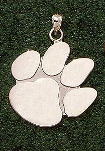 Clemson Tigers Giant 1 1 2 W x 1 1 2 H Polished Paw Pendant - 10KT Gold Jewelry by Logo Art