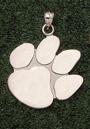 Clemson Tigers Giant 1 1 2 W x 1 1 2 H Polished Paw Pendant - 14KT Gold Jewelry by Logo Art