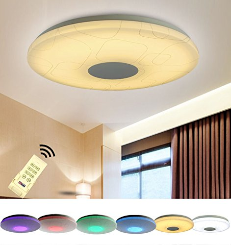 Natsen® LED Modern Deckenlampe X809 15W RGB voll dimmbar WW-KW Fernbedienung Ø 380mm