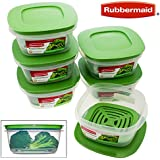 Rubbermaid Produce Saver Square 5-Cup Food Storage Container, 1 Count (Pack of 6)