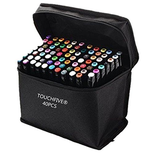 touchfiver-markers-lot-de-40-marqueurs-de-double-pointes-1mm-6mm-brush-dans-un-sacconception-manga-n