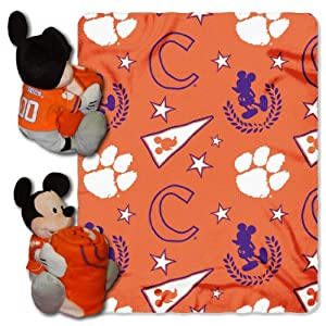 Buy NCAA Clemson Tigers 40x-50-Inch Throw with 14-Inch Hugger by Disney