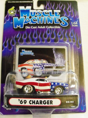 Muscle Machines Die Cast 1:64 Scale '69 Charger Red White & Blue