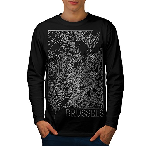 belgium-brussels-map-big-town-men-new-black-m-long-sleeve-t-shirt-wellcoda