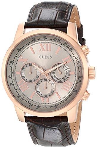 Guess U0380G4 - Reloj para hombres, correa de cuero color marrón