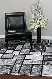 Gray 4\'0x5\'3 Area Rug Modern Carpet Large New