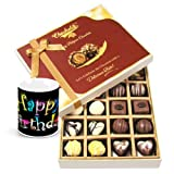 Chocholik Luxury Chocolates - Milk And White Collection Of Beautiful Chocolates With Birthday Mug