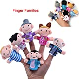 Awkii16PCS Finger Puppets Set Novelty Educational Toys for Baby Story Time, Shows, Playtime, Schools including 10 Animals + 6 People Family