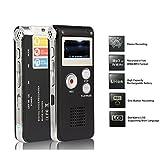 Digital Audio Voice Recorder / Dictaphone / MP3 Player -8GB (Black-1)