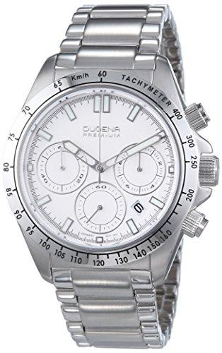 Dugena Premium  - Reloj de cuarzo para hombre, con correa de acero inoxidable, color plateado