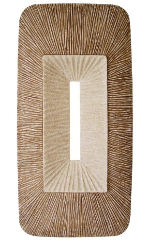 """Rectangular Double Layer Ribbed Wall Plaque 24"""" X 12"""" X 2' (Set of 2) - Screen Gems SGS4149-76F SGS4149-76F"""