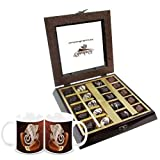 Chocholik Belgium Chocolate Gifts - Occasional Flavor Chocolate Box With Diwali Special Coffee Mugs - Diwali Gifts