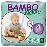Abena Bambo Nature Premium Baby Diapers, Maxi, Size 4, 30 Count (Pack of 6)