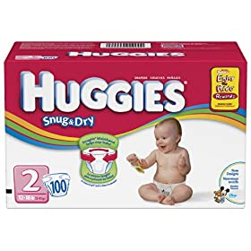 Huggies Snug & Dry Diapers, Size 2, 100-Count
