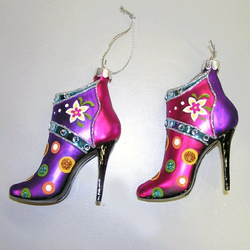 Christmas tree glass shoe ornaments it s time