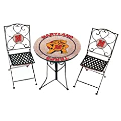University of Maryland Terps Outdoor Table & Chair Set by Traditions Artglass