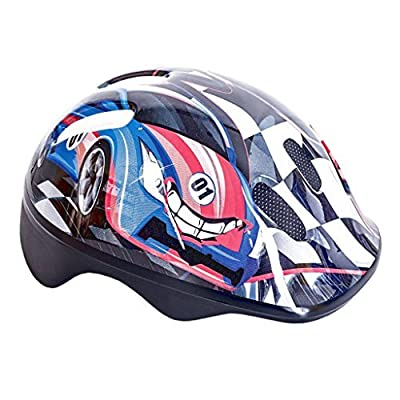 KIDS CHILDRENS BOYS GIRLS CYCLE SAFETY HELMET BIKE BICYCLE SKATING 49-56cm (rally) by spoke from spoke