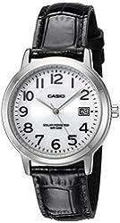 Casio Unisex MTP-S100L-7B1VCF Solar Analog Display Quartz Black Watch