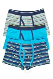 3 Pack Cotton Rich Striped Trunks [T71-4127-S]