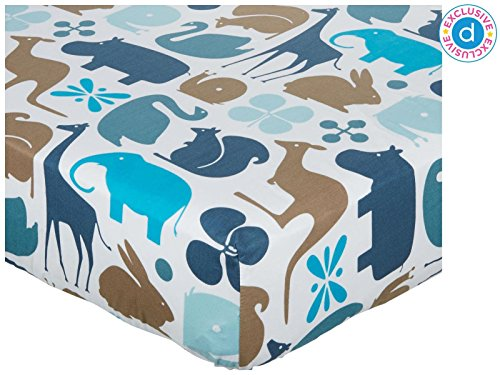 Gio Fitted Crib Sheet- Aqua - 1