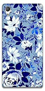 The Racoon Grip Free Floral hard plastic printed back case / cover for Sony Xperia Z4